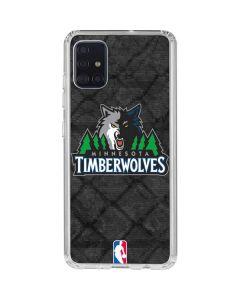 Minnesota Timberwolves Dark Rust Galaxy A51 Clear Case