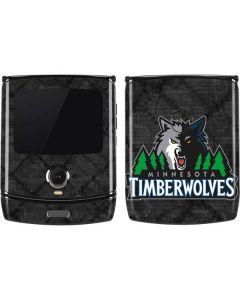 Minnesota Timberwolves Dark Rust Motorola RAZR Skin