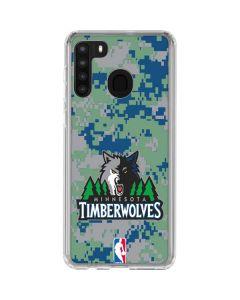 Minnesota Timberwolves Digi Camo Galaxy A21 Clear Case