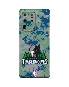 Minnesota Timberwolves Digi Camo Galaxy S20 Ultra 5G Skin