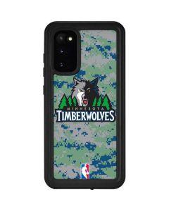 Minnesota Timberwolves Digi Camo Galaxy S20 Waterproof Case