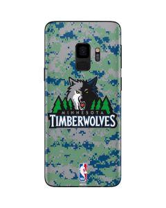 Minnesota Timberwolves Digi Camo Galaxy S9 Skin