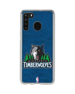 Minnesota Timberwolves Distressed Galaxy A21 Clear Case
