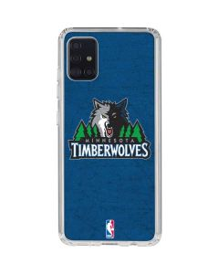 Minnesota Timberwolves Distressed Galaxy A51 Clear Case