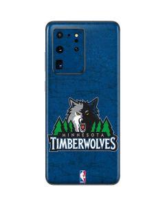 Minnesota Timberwolves Distressed Galaxy S20 Ultra 5G Skin