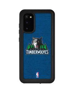 Minnesota Timberwolves Distressed Galaxy S20 Waterproof Case