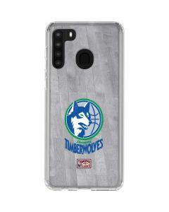 Minnesota Timberwolves Hardwood Classics Galaxy A21 Clear Case