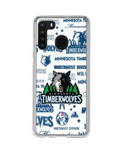 Minnesota Timberwolves Historic Blast Galaxy A21 Clear Case