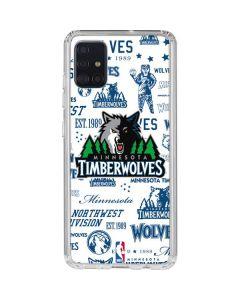 Minnesota Timberwolves Historic Blast Galaxy A51 Clear Case