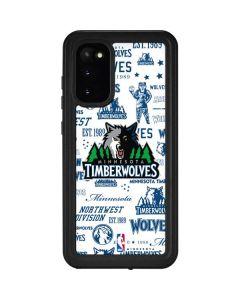 Minnesota Timberwolves Historic Blast Galaxy S20 Waterproof Case