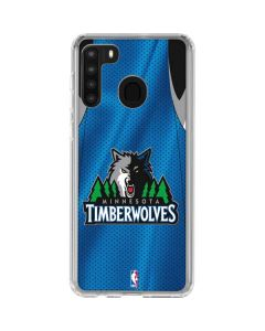 Minnesota Timberwolves Jersey Galaxy A21 Clear Case