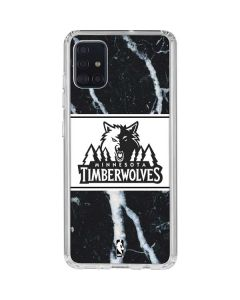 Minnesota Timberwolves Marble Galaxy A51 Clear Case