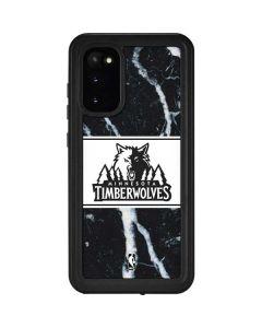 Minnesota Timberwolves Marble Galaxy S20 Waterproof Case