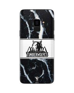 Minnesota Timberwolves Marble Galaxy S9 Skin