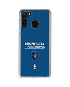 Minnesota Timberwolves Standard - Blue Galaxy A21 Clear Case