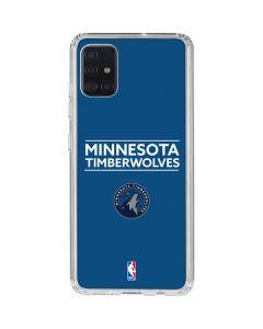 Minnesota Timberwolves Standard - Blue Galaxy A51 Clear Case