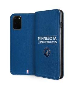Minnesota Timberwolves Standard - Blue Galaxy S20 Plus Folio Case