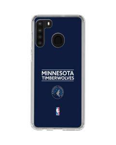 Minnesota Timberwolves Standard - Navy Blue Galaxy A21 Clear Case