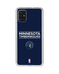 Minnesota Timberwolves Standard - Navy Blue Galaxy A51 Clear Case
