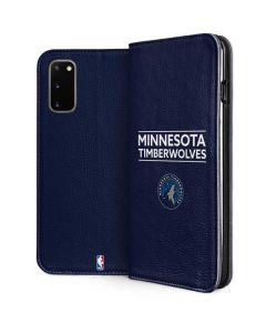Minnesota Timberwolves Standard - Navy Blue Galaxy S20 Folio Case