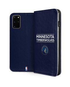 Minnesota Timberwolves Standard - Navy Blue Galaxy S20 Plus Folio Case