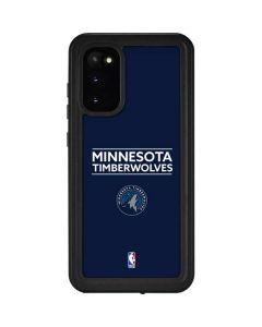Minnesota Timberwolves Standard - Navy Blue Galaxy S20 Waterproof Case