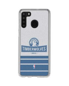 Minnesota Timberwolves Static Galaxy A21 Clear Case
