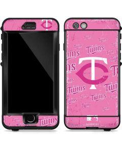 Minnesota Twins - Pink Cap Logo Blast LifeProof Nuud iPhone Skin