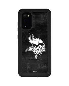 Minnesota Vikings Black & White Galaxy S20 Waterproof Case