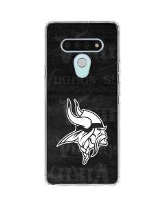 Minnesota Vikings Black & White LG Stylo 6 Clear Case