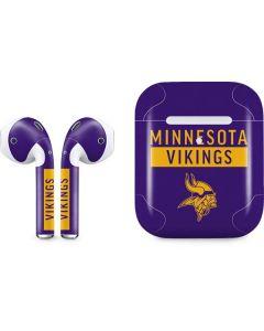Minnesota Vikings Purple Performance Series Apple AirPods 2 Skin