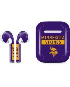Minnesota Vikings Purple Performance Series Apple AirPods Skin