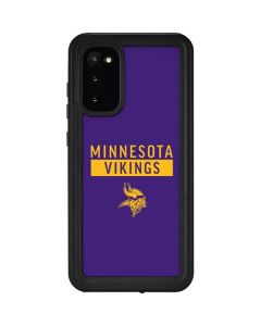Minnesota Vikings Purple Performance Series Galaxy S20 Waterproof Case