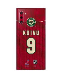 Minnesota Wild #9 Mikko Koivu Galaxy Note 10 Skin
