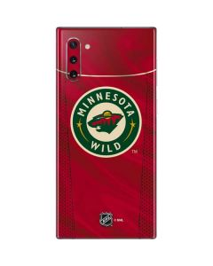 Minnesota Wild Home Jersey Galaxy Note 10 Skin