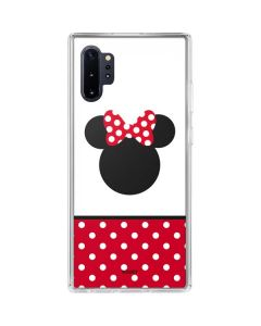 Minnie Mouse Symbol Galaxy Note 10 Plus Clear Case