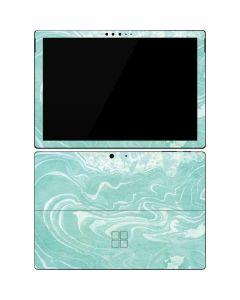 Mint Marbling Surface Pro 7 Skin