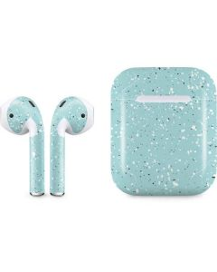 Mint Speckled Apple AirPods Skin