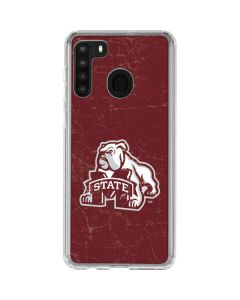 Mississippi State Bulldogs Distressed Galaxy A21 Clear Case