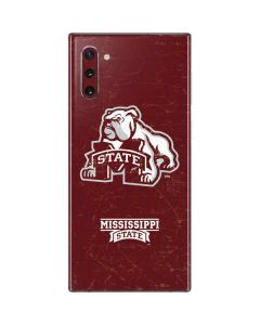 Mississippi State Bulldogs Distressed Galaxy Note 10 Skin