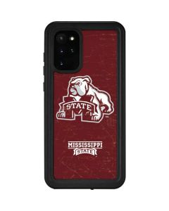 Mississippi State Bulldogs Distressed Galaxy S20 Plus Waterproof Case