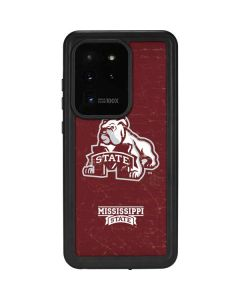 Mississippi State Bulldogs Distressed Galaxy S20 Ultra 5G Waterproof Case