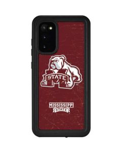 Mississippi State Bulldogs Distressed Galaxy S20 Waterproof Case