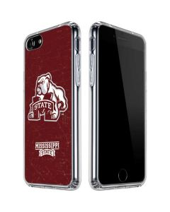 Mississippi State Bulldogs Distressed iPhone SE Clear Case