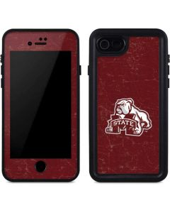 Mississippi State Bulldogs Distressed iPhone SE Waterproof Case