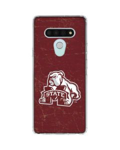 Mississippi State Bulldogs Distressed LG Stylo 6 Clear Case