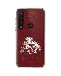 Mississippi State Bulldogs Distressed Moto G8 Plus Clear Case