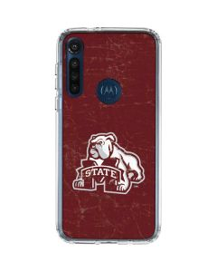 Mississippi State Bulldogs Distressed Moto G8 Power Clear Case