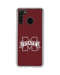 Mississippi State Logo Galaxy A21 Clear Case