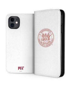 MIT White Logo iPhone 11 Folio Case